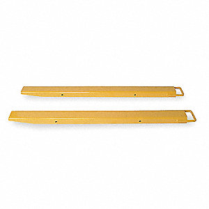 Fork Extensions,Yellow,4 x 72 In,Pk2