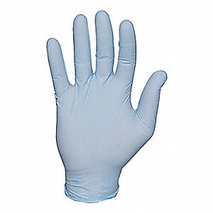 "Blues Disposable Gloves, Nitrile, Powder Free, M, 4 mil Palm Thickness, 9-1/2"" Length"