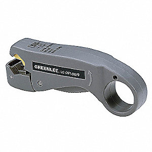 "Cable Stripper,4-1/4"" Overall Length,20 to 18 AWG Capacity,RG6, RG6 Quad, RG59 Cable Type"