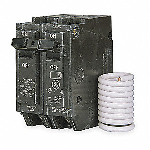 Plug In Circuit Breaker, THQL, Number of Poles 2, 15 Amps, 120/240VAC, Switched Neutral