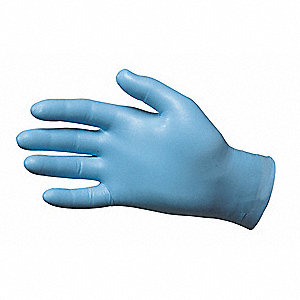 "Blues Disposable Gloves, Nitrile, Powdered, L, 8 mil Palm Thickness, 9-1/2"" Length"