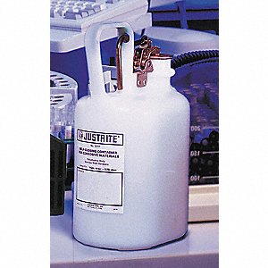 Disposal Can,1 Gal.,White,Polyethylene
