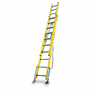 Werner 28 ft fiberglass extension ladder 375 lb load for Escaleras extensibles