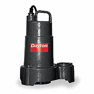 3/4 HP Submersible Sump Pump, None Switch Type, Cast Iron Base Material