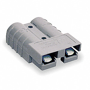 "Power Connector, Gray, 6 Wire Size (AWG), 0.221"" Max. Wire Dia."