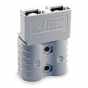 "Power Connector, Gray, 4 Wire Size (AWG), 0.298"" Max. Wire Dia."