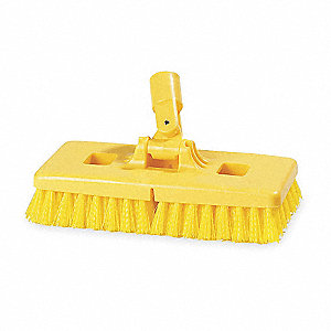 "9"" Plastic Swivel Scrub Brush"