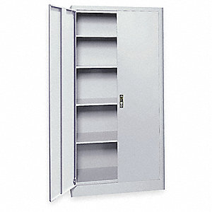 "Radius Edge Storage Cabinet, Dove Gray, 72"" Overall Height, Assembled"