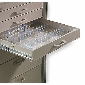"Clear Drawer Divider Kit, 2-3/8"" Height"