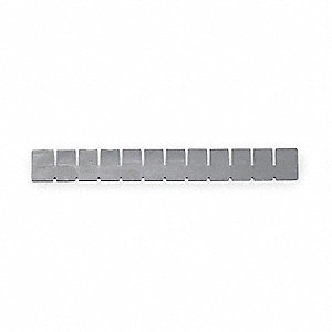 "Gray Short Drawer Tote Divider, 1-7/8"" Height"