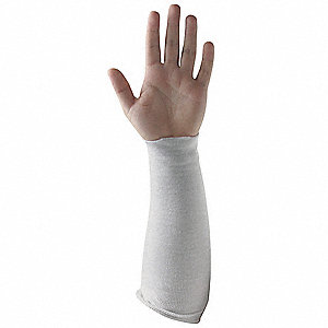 Cut Resistant Sleeve,14 In. L,White