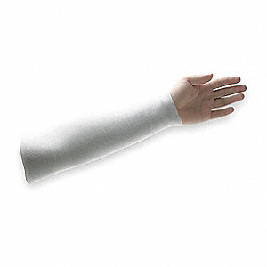 Cut Resistant Sleeve,18 In. L,White