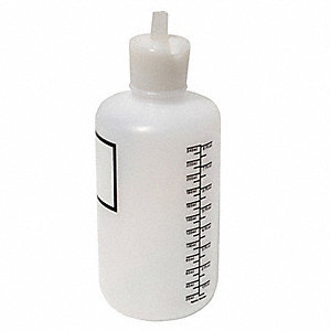 8 oz. Bottle, Narrow Mouth, Plastic, EA 1