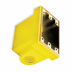 Weatherproof Back Box, 1-Gang, 1-Inlet, Fiberglass