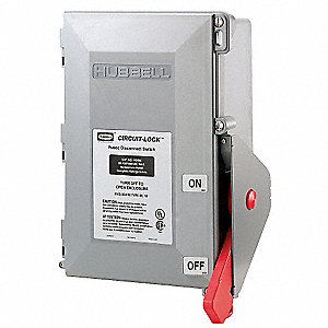 Hubbell Wiring Device Kellems Fusible Enclosed Disconnect