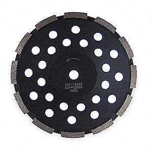 "7"" Segment Cup Grinding Wheel, Single Row, 5/8"" or 7/8"" Arbor Size, Number of Segments: 12"