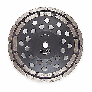 "4"" Segment Cup Grinding Wheel, Double Row, 5/8"" or 7/8"" Arbor Size"