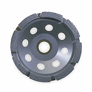 "5"" Segment Cup Grinding Wheel, Double Row, 5/8""-11 Arbor Size"