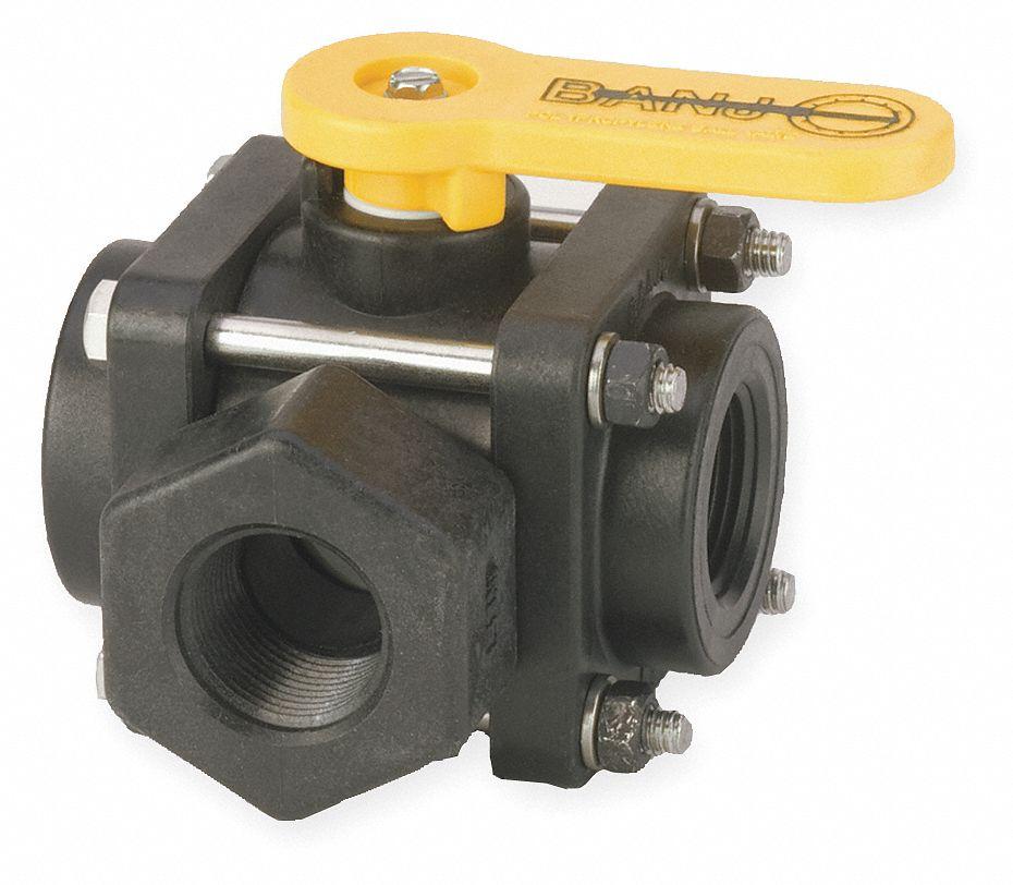 Banjo polypropylene fnpt ball valve lever quot pipe
