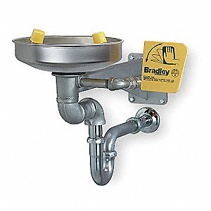 ADA Eyewash Station,Wall,SS,15-7/8 W