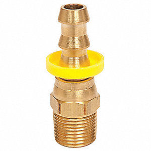 Hose Fitting,1/2 In. ID,1/2-14,(M)NPT
