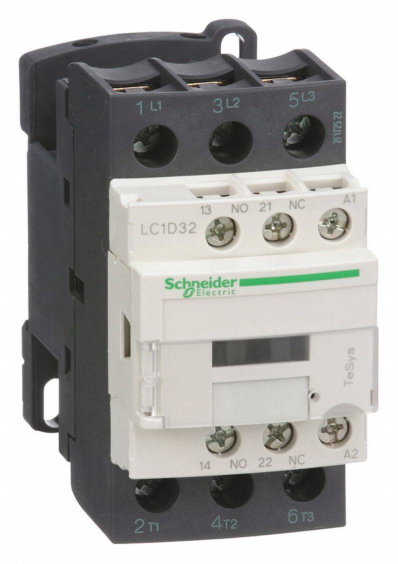 Schneider Electric 240vac Iec Magnetic Contactor  No  Of Poles 3  Reversing  No  32 Full Load
