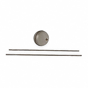 Center Hole Float/Rod Assembly,Round,7In