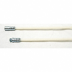 Nylon Brush Rods,1/4 NPT,Dia 3/8,48 L