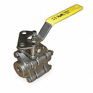 "316 Stainless Steel FNPT x FNPT Fire Safe Ball Valve, Locking Lever, 2"" Pipe Size"