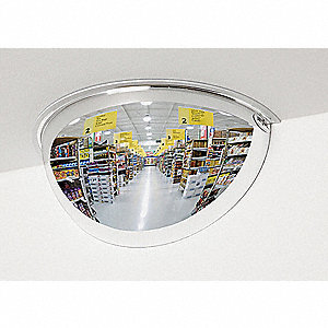 Half Dome Mirror,9In.,Steel