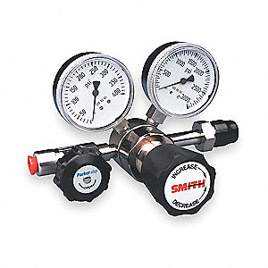 "Silverline Series High Purity Gas Regulator, 0 to 25 psi, 2"", Corrosive Gas"