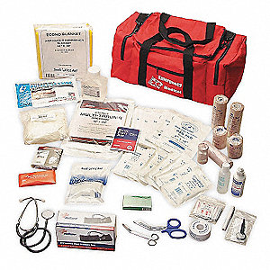 Trauma Kit,Medium,Red,Nylon