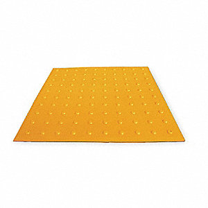 "Yellow Retrofit ADA Warning Pad, 5 ft. Length, 2 ft. Width, 3/4"" Depth"