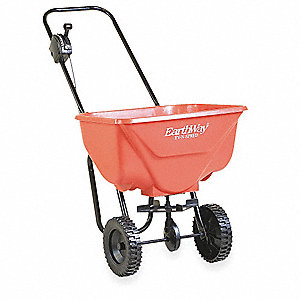 Broadcast Spreader, 65 lb. Capacity, Poly Wheel Type, 3 Hole Drop Type, Loop Handle