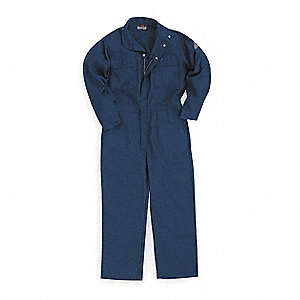 Nomex® IIIA, Flame-Resistant Coverall, Size: 2XL, Color Family: Blues, Closure Type: Zipper
