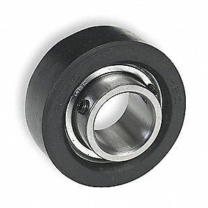 "Rubber Mounted Bearing,Ball,1"" Bore"