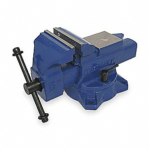 "5"" Ductile Iron Mechanic's Vise, 3-11/32"" Throat Depth"