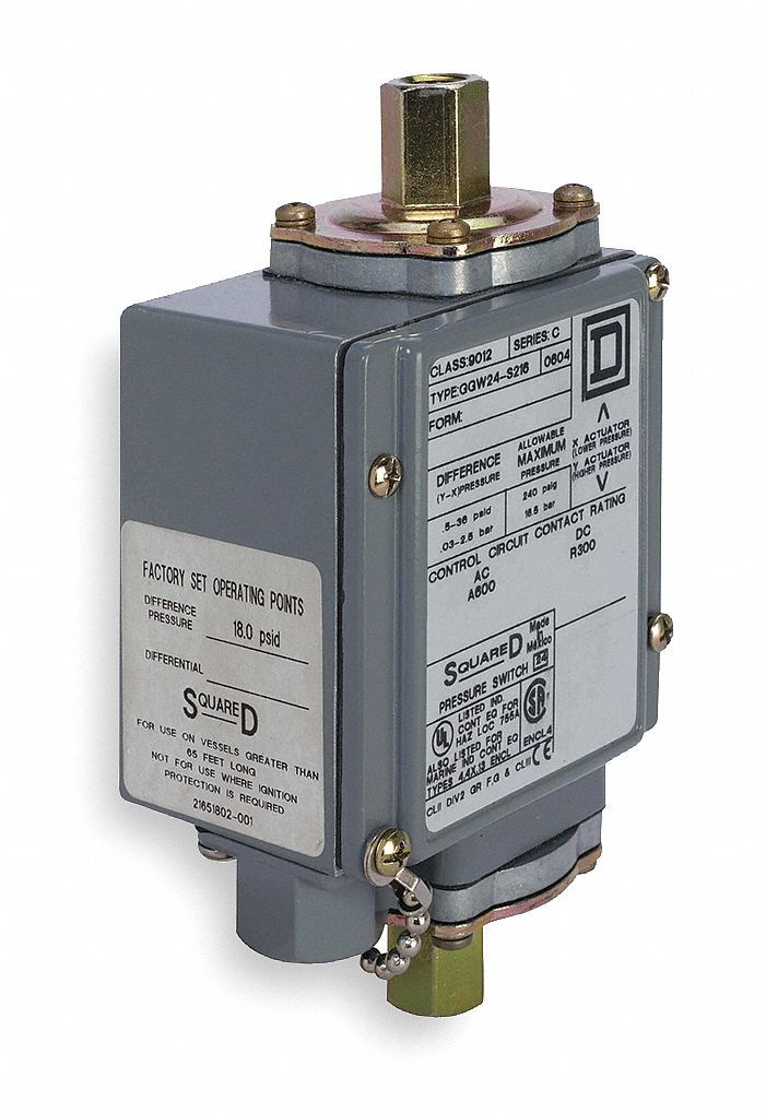 Square D Diaphragm Differential Pressure Switch