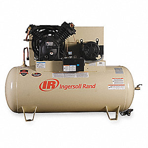 Ingersoll rand 3 phase horizontal tank mounted 15hp for Ingersoll rand air compressor electric motor