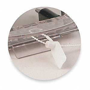 Pull Tight Seal,5 In,Plastic,White,PK5