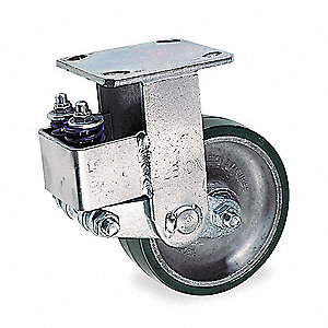 Rigid Plate Shock-Absorbing Caster