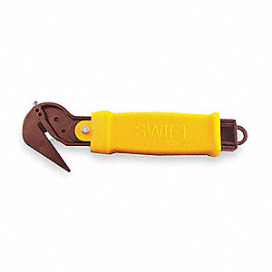 Safety Utility Knife,6-3/4 In.,Yellow