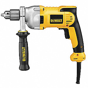 "1/2"" Electric Drill, 10 Amps, Pistol Grip Handle Style, 0 to 1250 No Load RPM, Voltage 120"