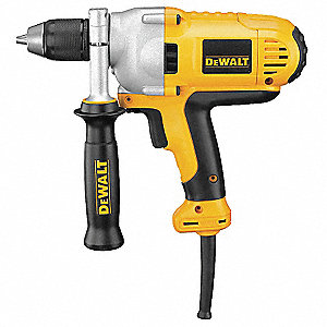 "1/2"" Electric Drill, 10.0 Amps, Spade Handle Style, Voltage 120VAC"