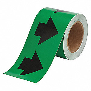 "Arrow Tape, Black/Green, Vinyl, 4"" x 90 ft."
