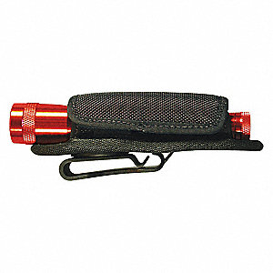 Black Lite Holster Stretch, For Use With Most AA, L123, C and D Cell Flashlights