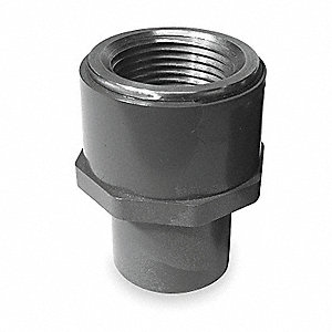 "CPVC/316 Stainless Steel Transition Fitting, 3/4"" Pipe Size, FNPT x Spigot Connection Type"