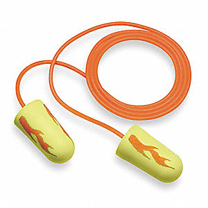 Ear Plugs,33dB,Corded,Reg,PK200