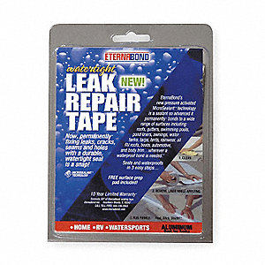 Roof Repair Tape Kit,4 In x 5 Ft,Metal