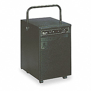 "Industrial Portable Dehumidifier, 115V, 5 Amps, Height 20-7/8"", Width 17-1/8"", Depth 13-1/2"""